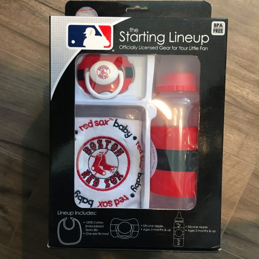 BOSTON RED SOX STARTING LINEUP BABY GIFT SET