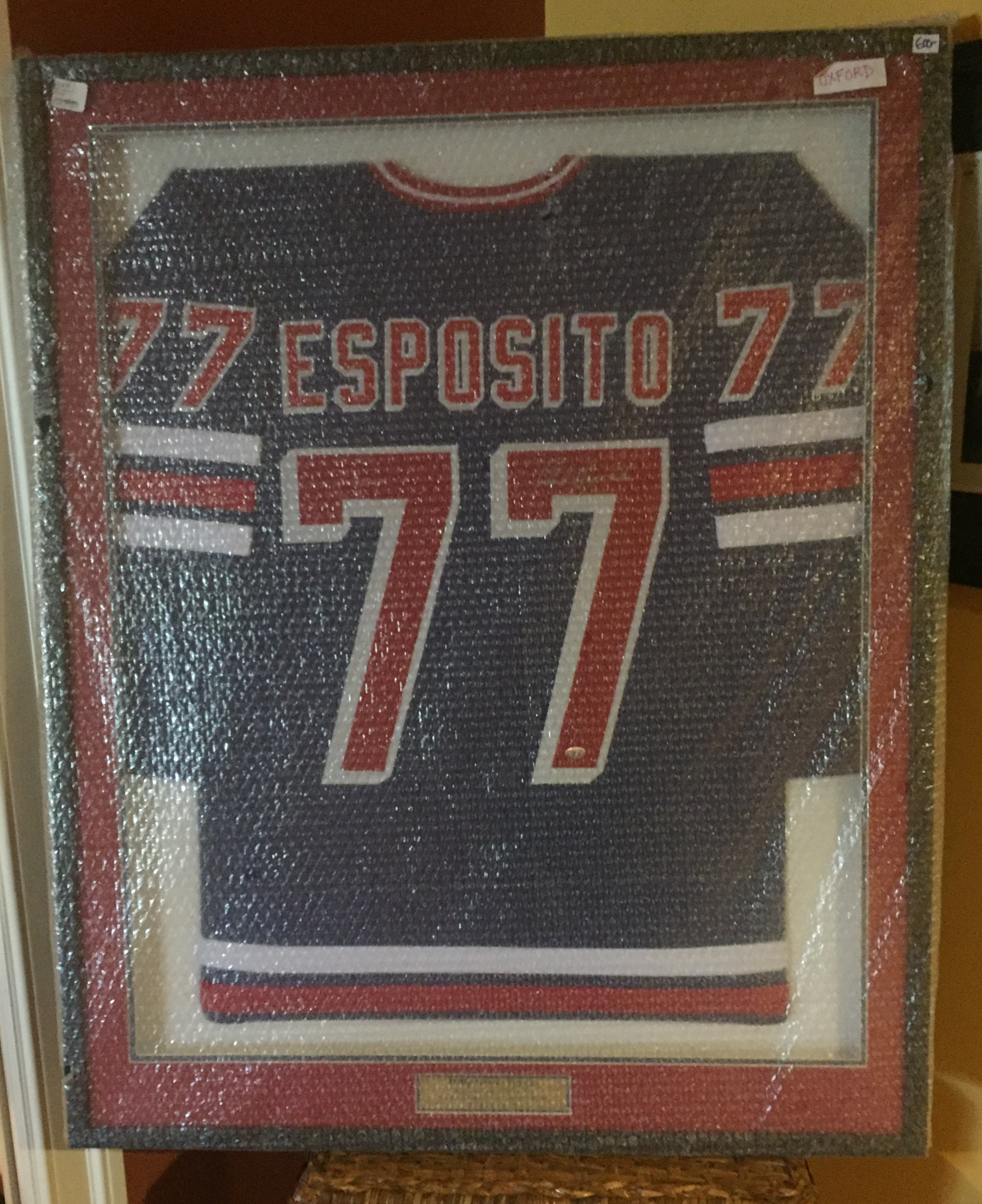 best loved 3be7e f6041 PHIL ESPOSITO AUTOGRAHED FRAMED JERSEY