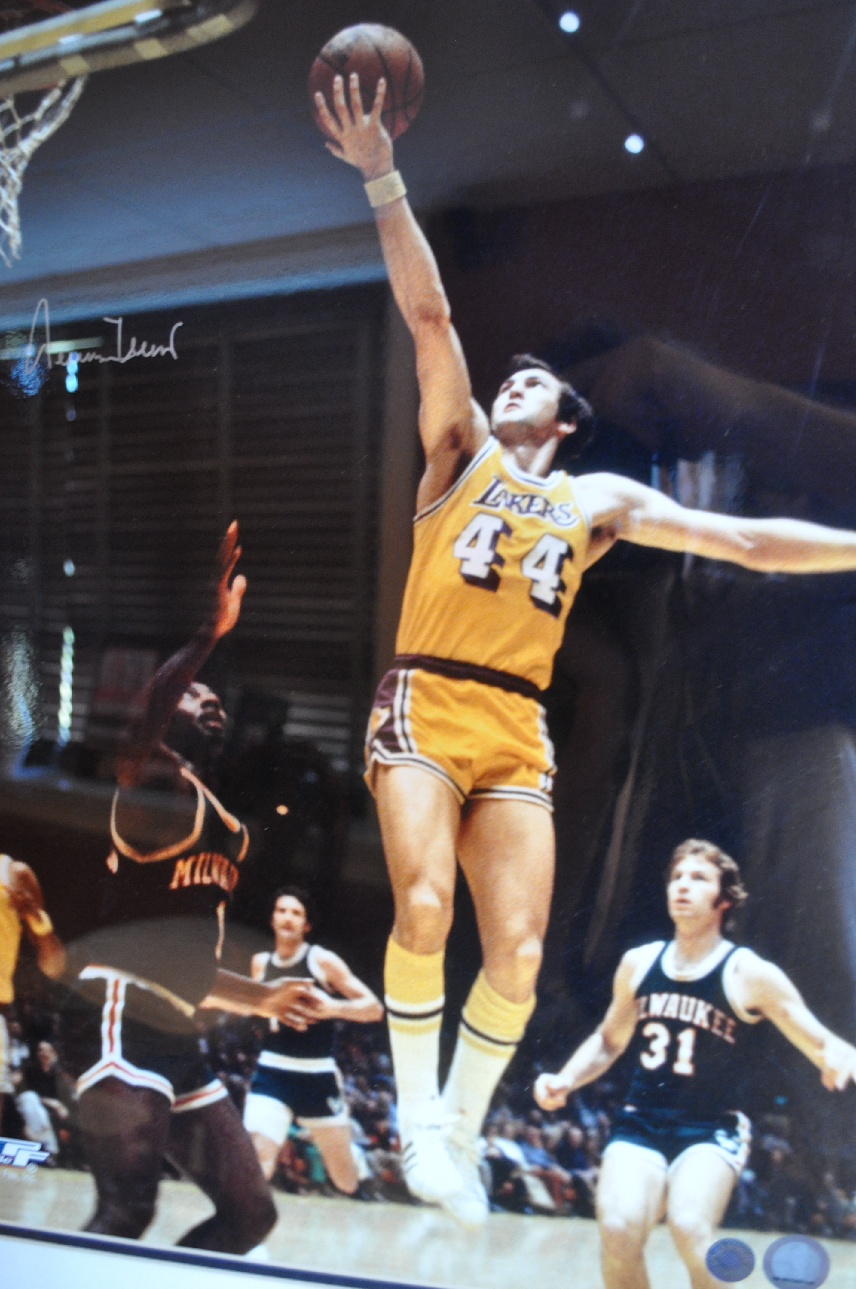 Jerry West Signed Framed 16x20 Photo Philly Man Cave