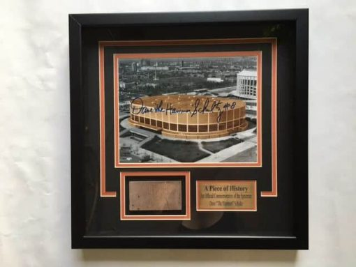 PHILADELPHIA SPECTRUM FRAMED BRICK AND PHOTO AUTOGRAPHED BY DAVE SCHULTZ
