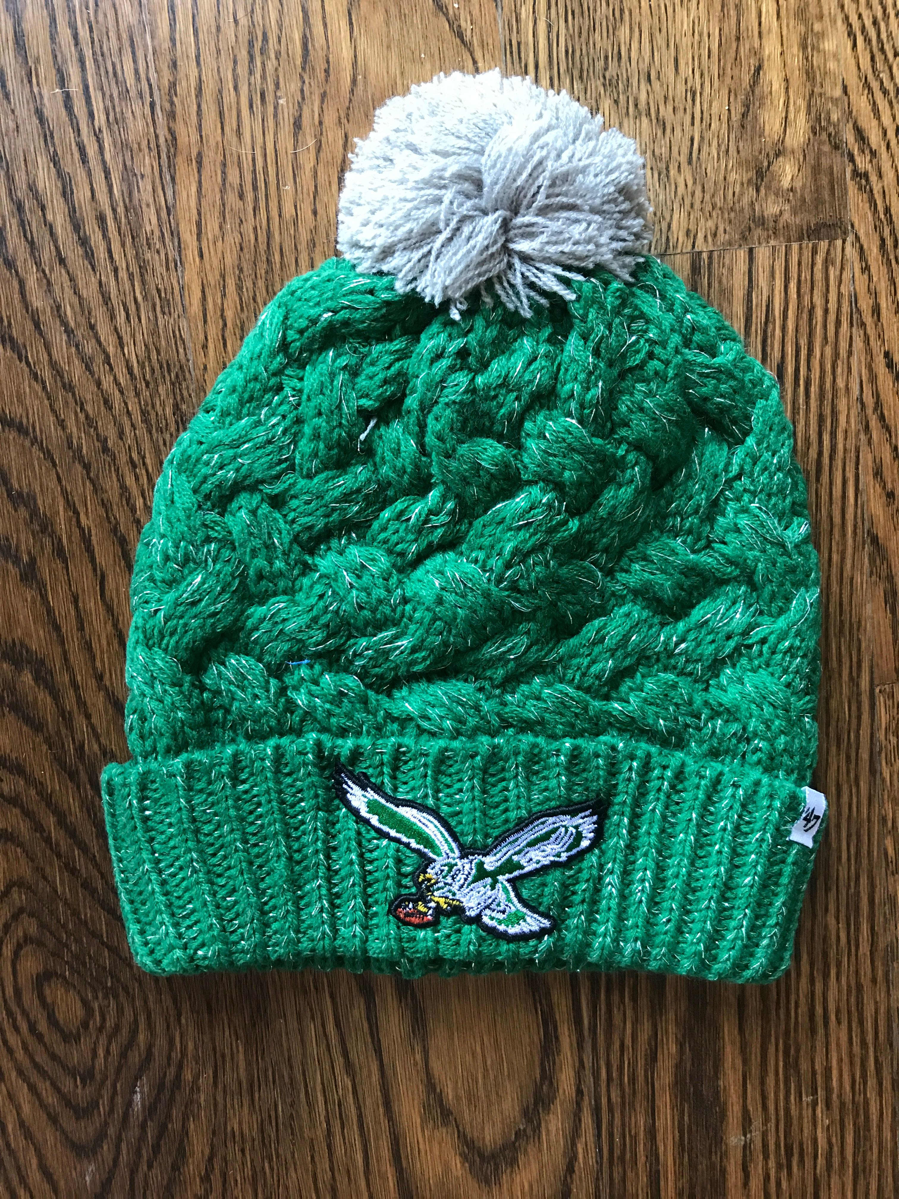 PHILADELPHIA EAGLES WOMENS KELLY GREEN FIONA KNIT CUFF WITH POM - Philly  Man Cave e4e2bc69224