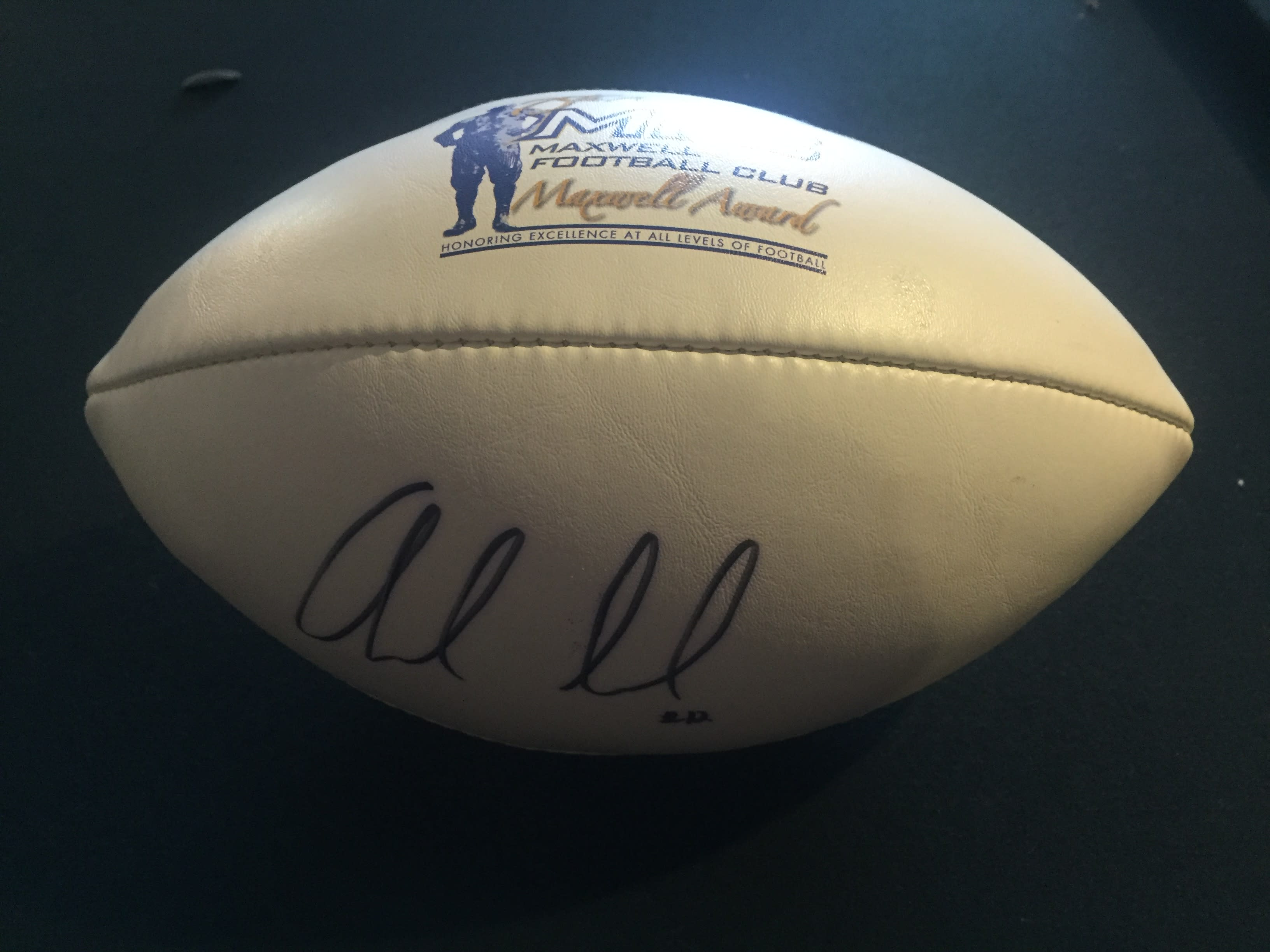 new arrival 9a916 04a80 ANDREW LUCK AUTOGRAPHED MAXWELL CLUB FOOTBALL