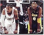 ALLEN IVERSON AND KOBE BRYANT POSTER