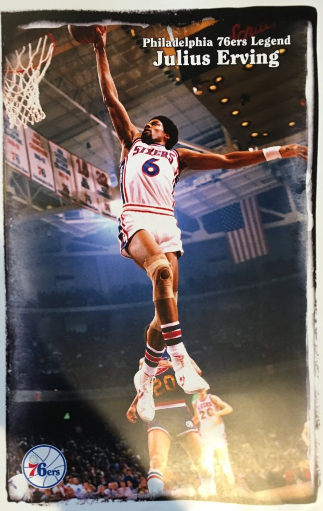 Dr J Julius Erving Poster Philly Man Cave
