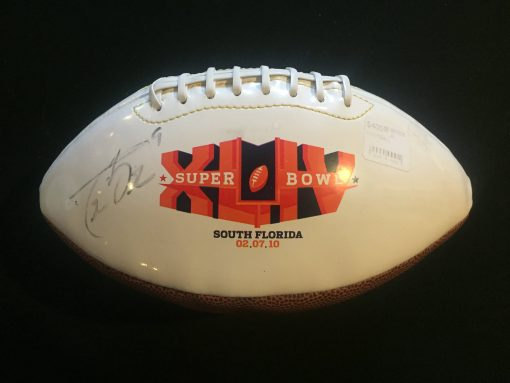 DREW BREES AUTOGRAPHED SUPERBOWL XLIV  FOOTBALL