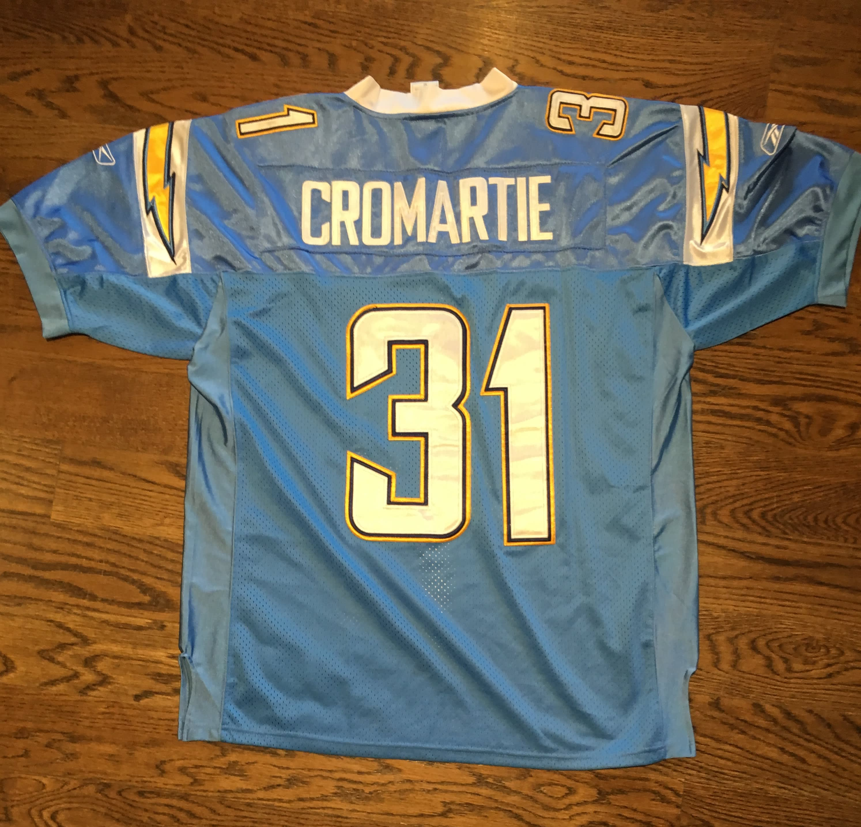 San Diego Chargers Dress: CROMARTIE SAN DIEGO CHARGERS JERSEY