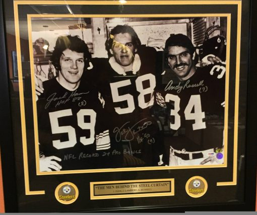 new product 9d587 e923e JACK HAM, JACK LAMBERT AND ANDY RUSSEL AUTOGRAPHED 16X20 FRAMED PHOTO
