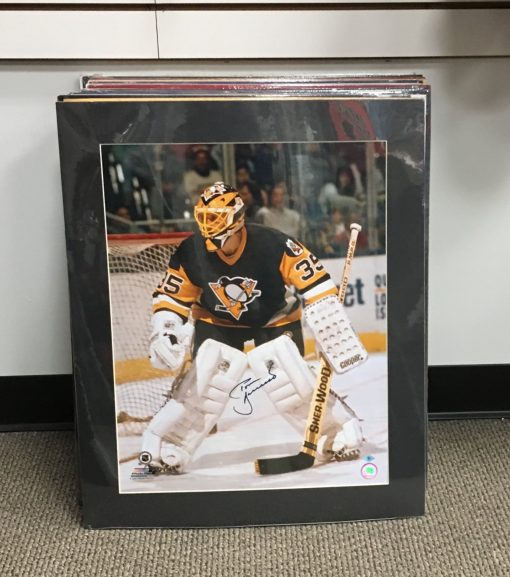 TOM BARRASSO AUTOGRAPHED 16X20 MATTED PHOTO