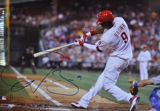 DOMONIC BROWN SIGNED FRAMED 16X20 PHOTO